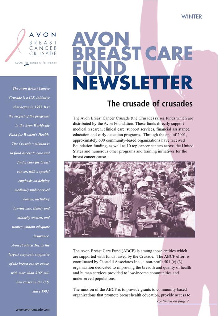 Avon Breast Care Fund Newsletter